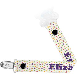 Girls Astronaut Pacifier Clips (Personalized)
