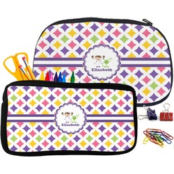Girls Astronaut Pencil / School Supplies Bag (Personalized)
