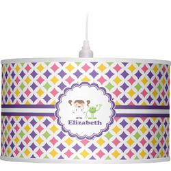 Girls Astronaut Drum Pendant Lamp (Personalized)