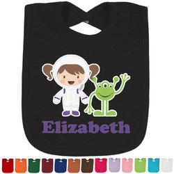 Girls Astronaut Baby Bib - 14 Bib Colors (Personalized)
