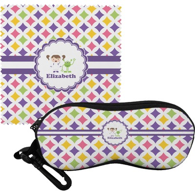 Girls Astronaut Eyeglass Case & Cloth (Personalized)