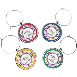 Girls Astronaut Wine Charms (Set of 4) (Personalized)