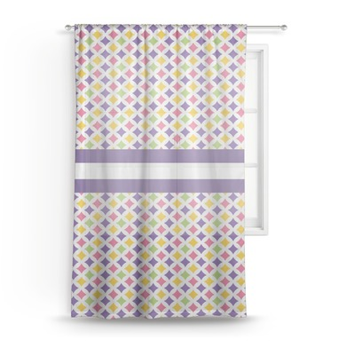 Girls Astronaut Sheer Curtains (Personalized)