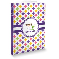 Girls Astronaut Softbound Notebook (Personalized)