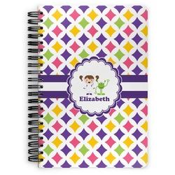 Girls Astronaut Spiral Bound Notebook (Personalized)