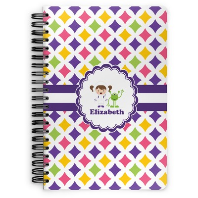 Girls Astronaut Spiral Notebook (Personalized)
