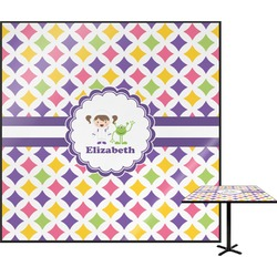Girls Astronaut Square Table Top (Personalized)