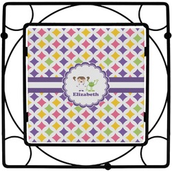 Girls Astronaut Square Trivet (Personalized)