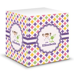 Girls Astronaut Sticky Note Cube (Personalized)