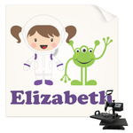 Girls Astronaut Sublimation Transfer (Personalized)