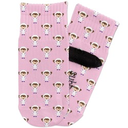 Girls Astronaut Toddler Ankle Socks (Personalized)