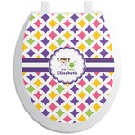 Girls Astronaut Toilet Seat Decal (Personalized)