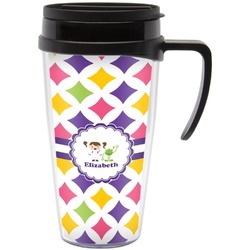 Girls Astronaut Travel Mug with Handle (Personalized)