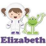 Girls Astronaut Graphic Decal - Custom Sizes (Personalized)