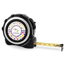Girl's Space & Geometric Print Tape Measure - 16 Ft (Personalized)