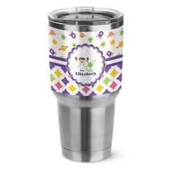 Girl's Space & Geometric Print Stainless Steel Tumbler - 30 oz (Personalized)