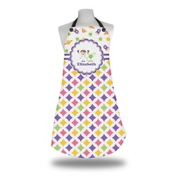 Girl's Space & Geometric Print Apron (Personalized)