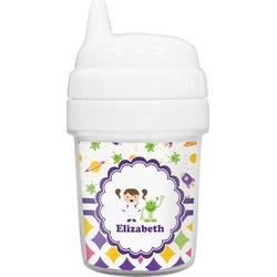 Girl's Space & Geometric Print Baby Sippy Cup (Personalized)