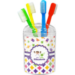 Girl's Space & Geometric Print Toothbrush Holder (Personalized)