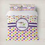 Girl's Space & Geometric Print Duvet Covers (Personalized)