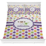 Girl's Space & Geometric Print Comforters (Personalized)