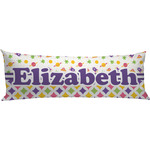 Girl's Space & Geometric Print Body Pillow Case (Personalized)