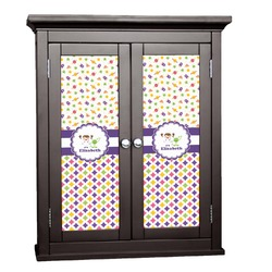 Girl's Space & Geometric Print Cabinet Decal - Custom Size (Personalized)