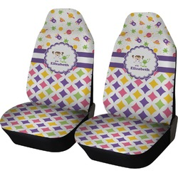 Girl's Space & Geometric Print Car Seat Covers (Set of Two) (Personalized)