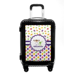 Girl's Space & Geometric Print Carry On Hard Shell Suitcase (Personalized)