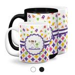 Girl's Space & Geometric Print Coffee Mugs (Personalized)