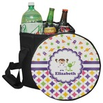 Girl's Space & Geometric Print Collapsible Cooler & Seat (Personalized)