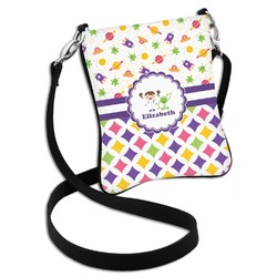 Girl's Space & Geometric Print Cross Body Bag - 2 Sizes (Personalized)