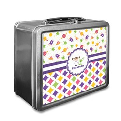 Girl's Space & Geometric Print Lunch Box (Personalized)
