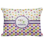 "Girl's Space & Geometric Print Decorative Baby Pillowcase - 16""x12"" (Personalized)"