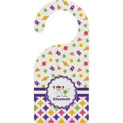 Girl's Space & Geometric Print Door Hanger (Personalized)