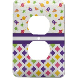 Girl's Space & Geometric Print Electric Outlet Plate (Personalized)