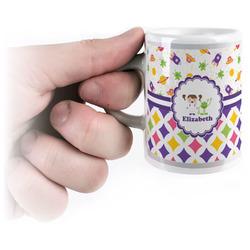 Girl's Space & Geometric Print Espresso Cups (Personalized)