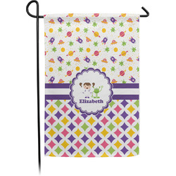 Girl's Space & Geometric Print Garden Flag - Single or Double Sided (Personalized)