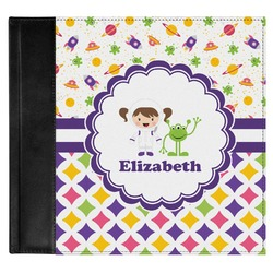 Girl's Space & Geometric Print Genuine Leather Baby Memory Book (Personalized)