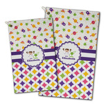Girl's Space & Geometric Print Golf Towel - Full Print w/ Name or Text