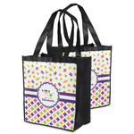 Girl's Space & Geometric Print Grocery Bag (Personalized)