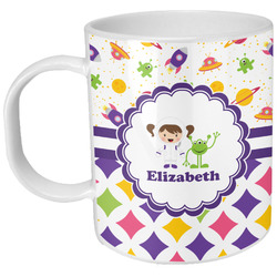 Girl's Space & Geometric Print Plastic Kids Mug (Personalized)