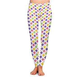 Girl's Space & Geometric Print Ladies Leggings (Personalized)