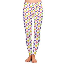 Girl's Space & Geometric Print Ladies Leggings (Personalized)