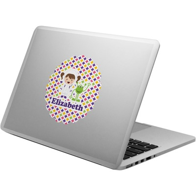 Girl's Space & Geometric Print Laptop Decal (Personalized)