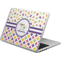 Girl's Space & Geometric Print Laptop Skin - Custom Sized (Personalized)