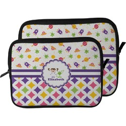 Girl's Space & Geometric Print Laptop Sleeve / Case (Personalized)