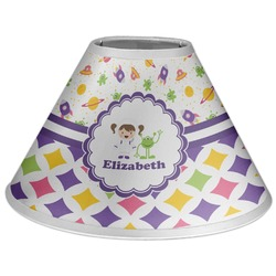 Girl's Space & Geometric Print Coolie Lamp Shade (Personalized)