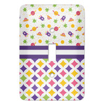 Girl's Space & Geometric Print Light Switch Covers (Personalized)