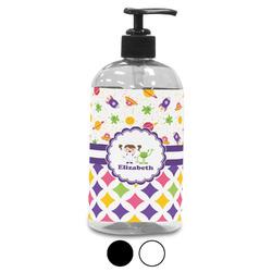 Girl's Space & Geometric Print Plastic Soap / Lotion Dispenser (Personalized)